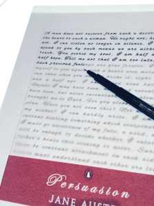 Persuasion-lightbox-writing