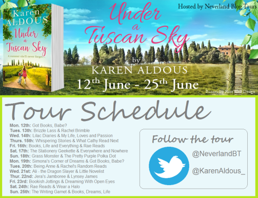 Karen Aldous Schedule Graphic