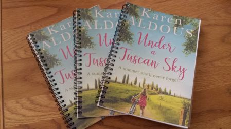 Under a Tuscan Sky Giveaway Notebooks