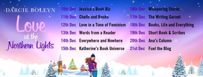 Love at the Northern Lights blog tour banner Dec
