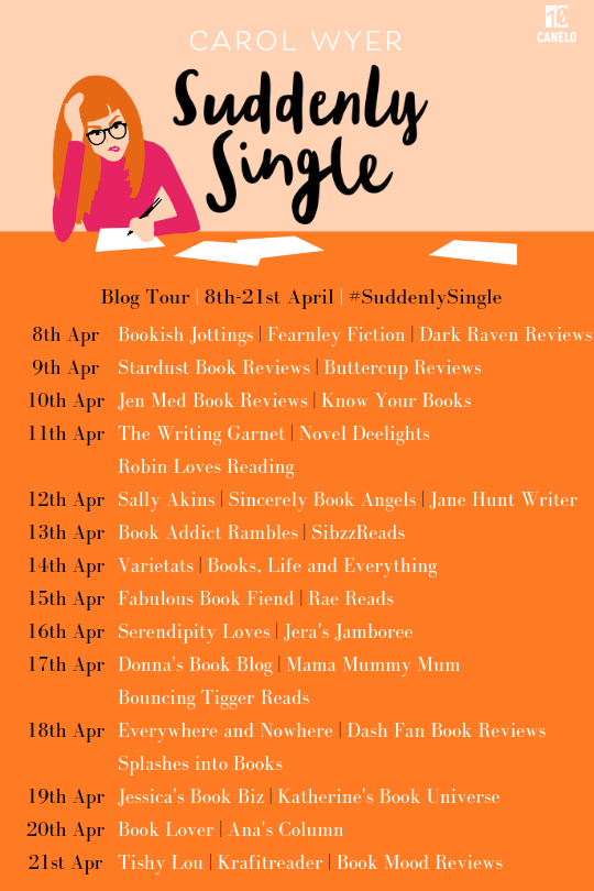 SUDDENLY SINGLE BLOG TOUR BANNER